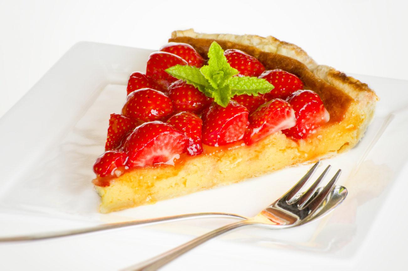 Aardbeien taart met lemoncurd